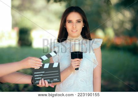 Professional Female Talent Auditioning for Movie Film Video Casting