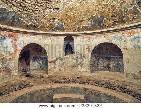 Stabian Baths Pompeii, Italy