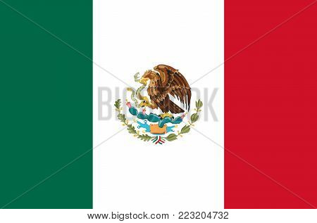 mexico national flag vector symbol icon, mexico flag