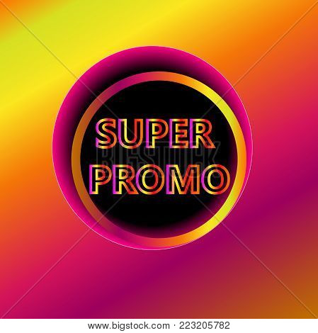 Wow offer banner isolated vector illustration. Exclusive offer tag, price discount promotion, advertisement retail sale label, special shopping symbol. Modern colorful graphic style offer poster