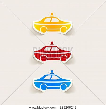 It is a realistic design element. police car