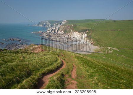 Ayrmer Cove near Challaborough bay South Devon England uk on south west coast path