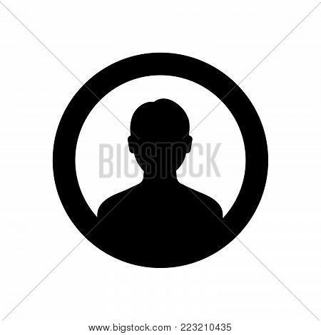 Profile icon isolated on white background. Profile icon modern symbol for graphic and web design. Profile icon simple sign for logo, web, app, UI. Profile icon flat vector illustration, EPS10.
