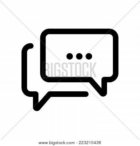 Chat icon isolated on white background. Chat icon modern symbol for graphic and web design. Chat icon simple sign for logo, web, app, UI. Chat icon flat vector illustration, EPS10.