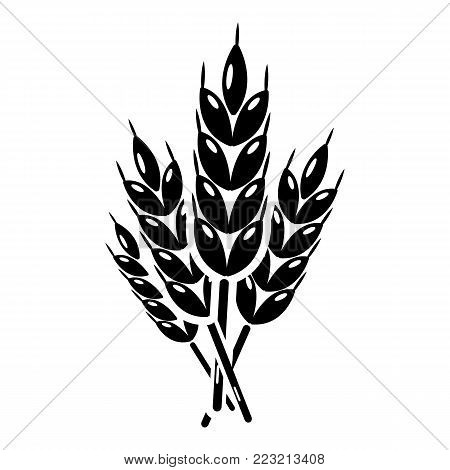 Wheat icon. Simple illustration of wheat vector icon for web.