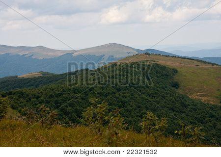 Panorama of Bieszczady Mountains, Poland