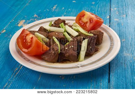 Central Asian Kebab From .mutton Liver