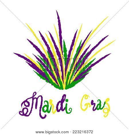 Mardi Gras carnival set, masquerade design element, vector mardi gras traditional illustration isolated