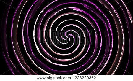 Hypnosis spiral, abstract background. Flame spiral series