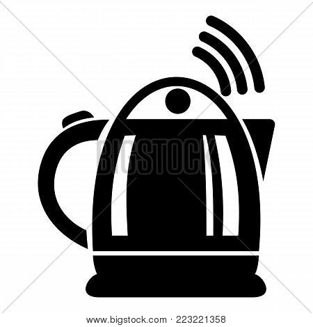 Electric kettle icon. Simple illustration of electric kettle vector icon for web