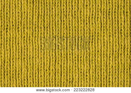 Yellow cotton fibres close up, macro detail