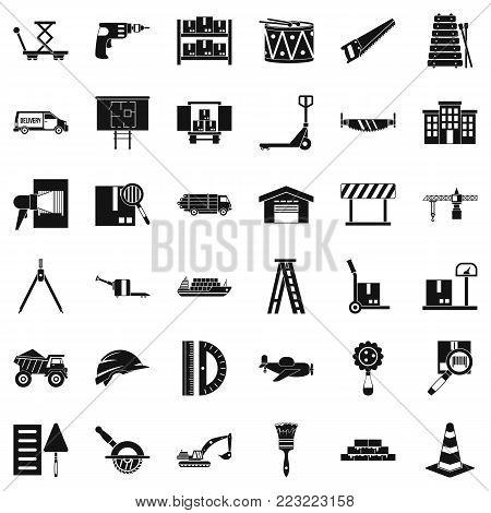Forwarding icons set. Simple set of 36 forwarding vector icons for web isolated on white background