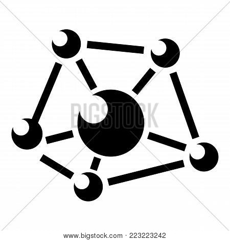 Molecule lab icon. Simple illustration of molecule lab vector icon for web