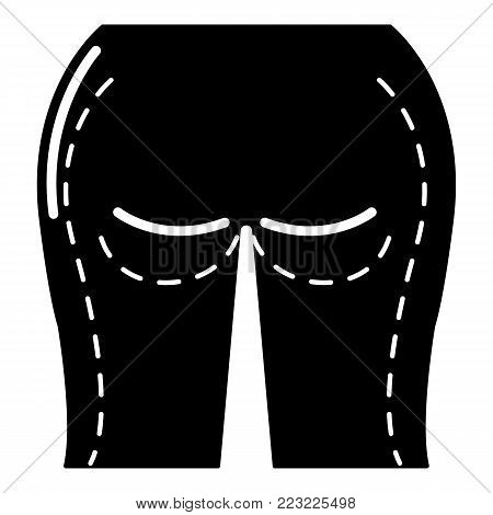 Buttocks liposuction icon. Simple illustration of buttocks liposuction vector icon for web.