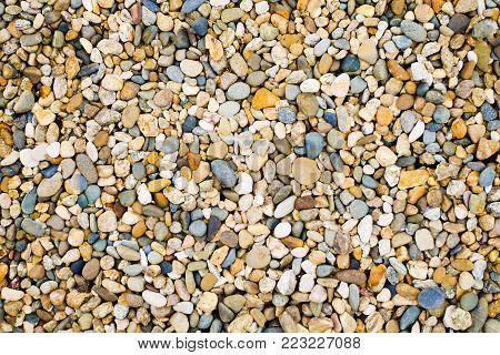 Abstract natural pebbles. background. stones for the garden. decorating a garden plot. landscape design