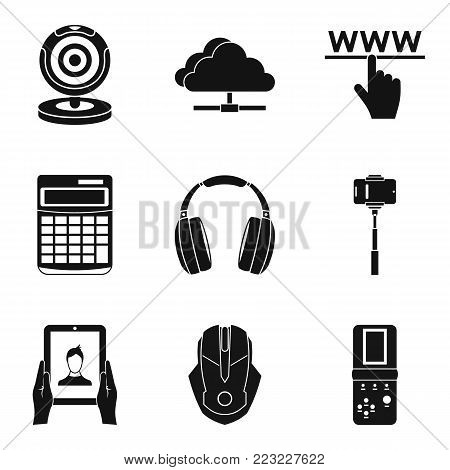 Promising device icons set. Simple set of 9 promising device vector icons for web isolated on white background