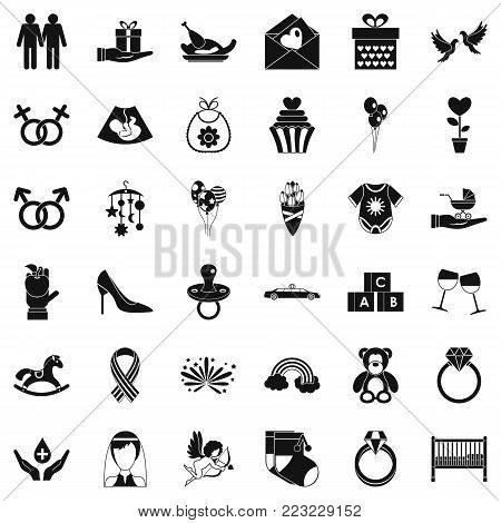 Admire icons set. Simple set of 36 admire vector icons for web isolated on white background