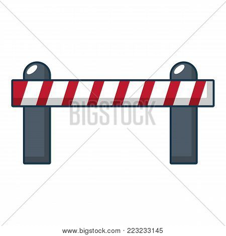Barrier icon. Cartoon illustration of barrier vector icon for web.