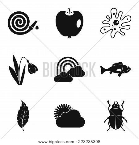 Garden stuff icons set. Simple set of 9 garden stuff vector icons for web isolated on white background