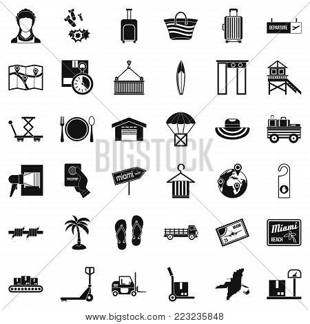 Handling icons set. Simple set of 36 handling vector icons for web isolated on white background