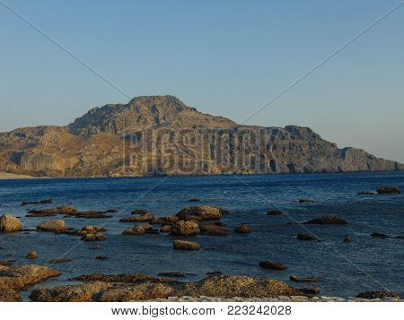 View from Plakias, a small village in Crete, Greece