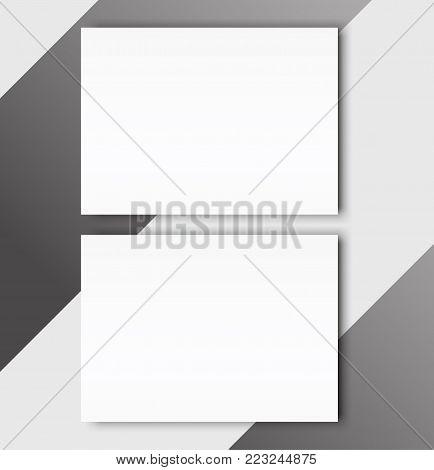 Blank catalogue landscape brochure mockup cover template.