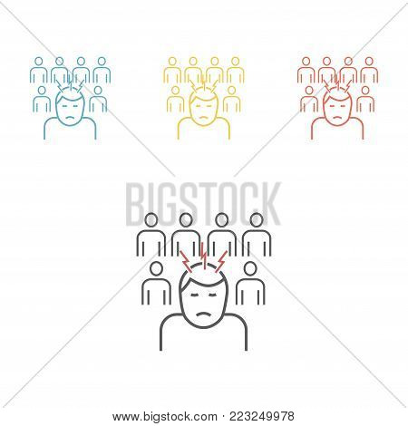 Social exclusion. Vector icon for web graphic.