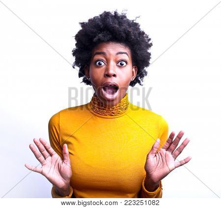 Spellbound surprised woman