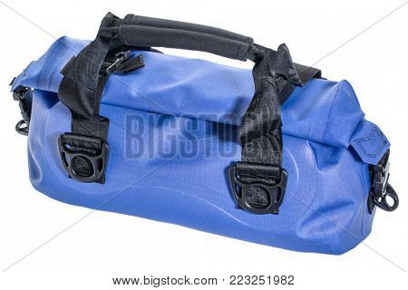 small waterproof duffel isolated on white