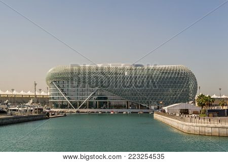Abu Dhabi, UAE- Nov 14th 2017: Yas Viceroy view in Yas Island-Abu Dhabi