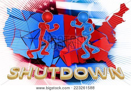 Shutdown Concept 3D Illustration