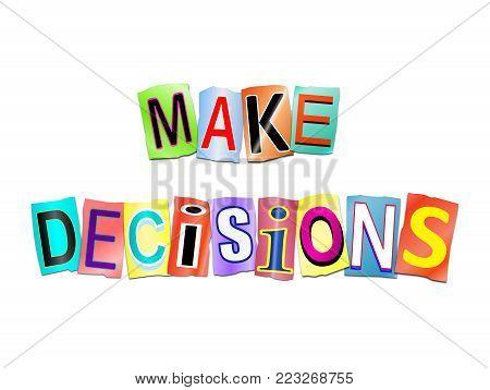 Make Decisions Concept.