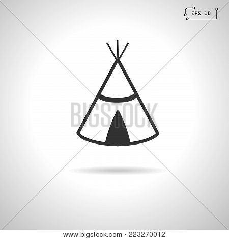 Wigwam Indian. Web icon. Vector Illustration.EPS 10
