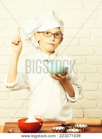 Surprised Boy Cute Cook Chef