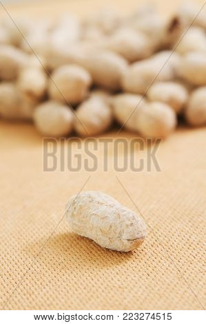 Peanuts food background close up with nobody.