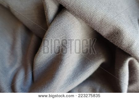 Jammed thin simple light grey jersey fabric