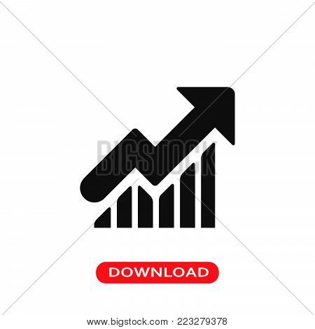 Progress report icon vector in modern flat style for web, graphic and mobile design. Progress report icon vector isolated on white background. Progress report icon vector illustration, editable stroke and EPS10. Progress report icon vector simple symbol f