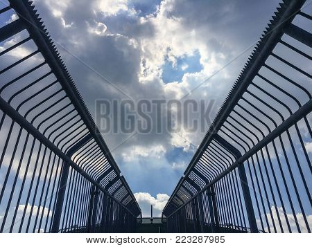 Abstract picture symbolizing imprisonment, depression, adversity and misery