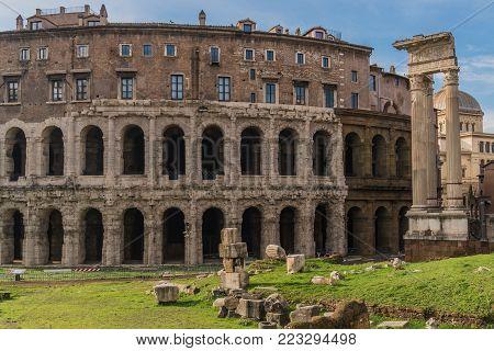 Teatro di Marcello in Rome, ancient Roman theatre