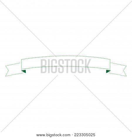 Outline of a emtpy ribbon image vector illustration design