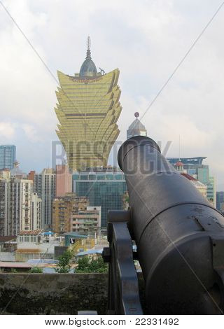 Macau - old and modern, cannons and casinos