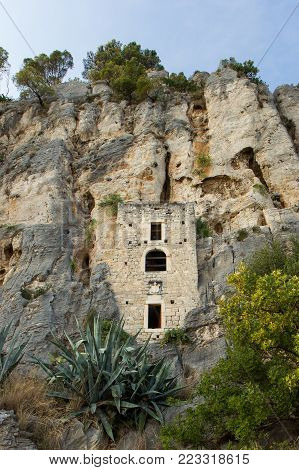 A Renaissance hermitage built into a cave at the Marjan peninsula in Split, Croatia.