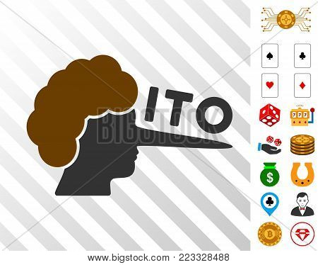 Ito Lier pictograph with bonus gambling pictures. Vector illustration style is flat iconic symbols. Designed for casino gui.