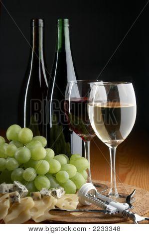Grape, Cheese And Wine