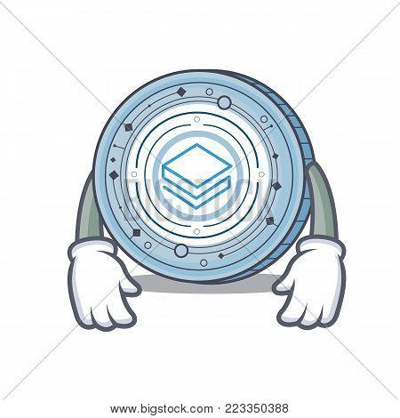 Tired Stratic coin mascot cartoon vector illustration