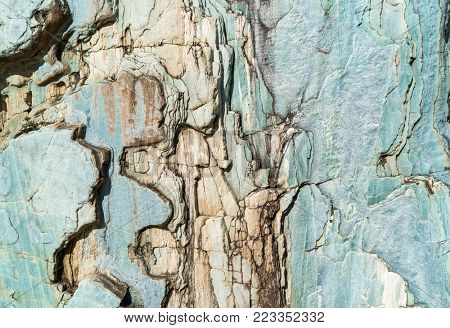 detailed background texture of shale rock