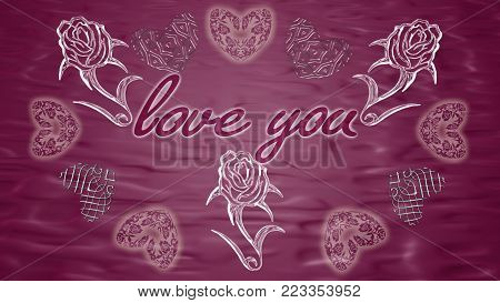Background with hearts can be used as a  wallpaper for your site, design projects, textile goods and other.