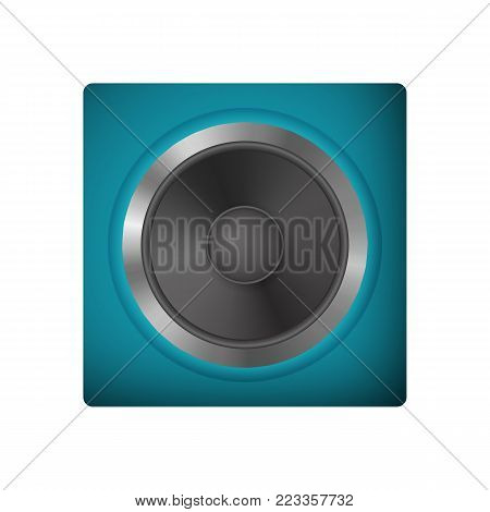 Modern audio speakers. Loudspeaker vector illustration. Icon audio system.