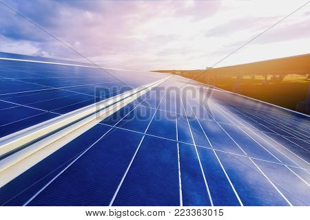 The concept of solar energy for renewable energy and energy saving to save the world