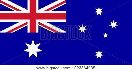 Flag of Australia. Vector illustration. World flag